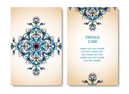 Vector invitation card Illusztráció