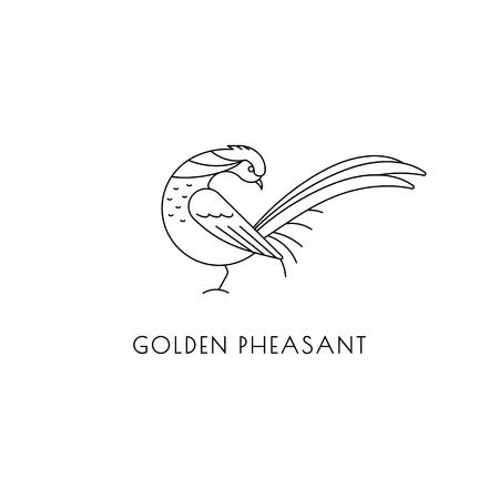 Golden pheasant outline icon