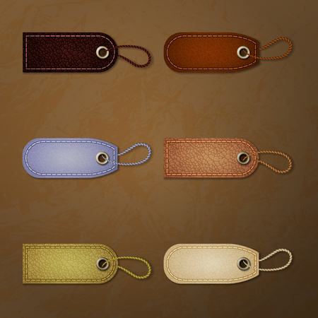 Leather tag collection