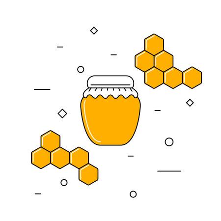 Jar of honey Ilustração
