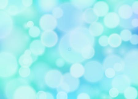 Blue bokeh effect