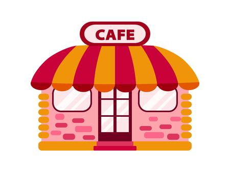 Color icon cafe or tea-room