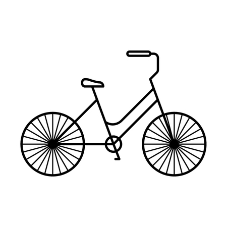 Line icon bicycle isolated on white