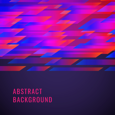 Abstract background with dinamic shapes. Vector image