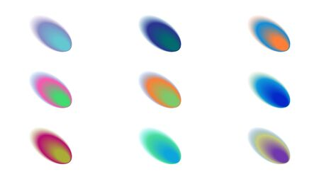 Abstract multicolor gradient shapes.