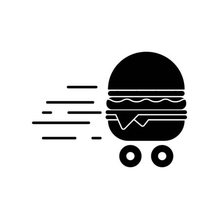 Fast Delivery Burger. Vector illustration