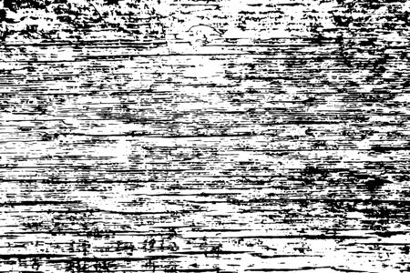 Old wooden black and white texture. Vector background image 일러스트