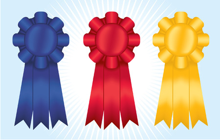 Three satin ribbons; gradient meshes used Ilustrace