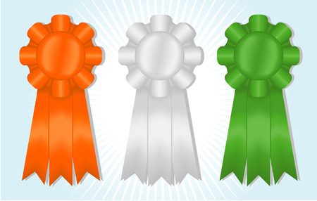 Three satin ribbons; contains gradient meshes