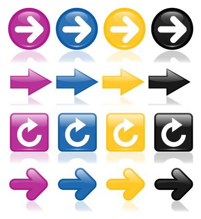 Colorful glossy arrow 2