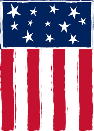 Patriotic, stylized American flag Vector