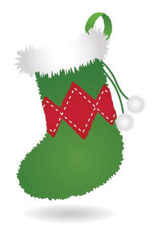 Fuzzy Christmas Stocking