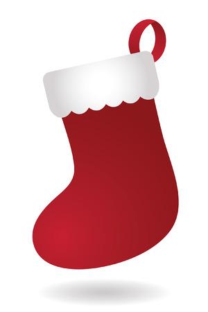 빨간 크리스마스 스타킹 일러스트