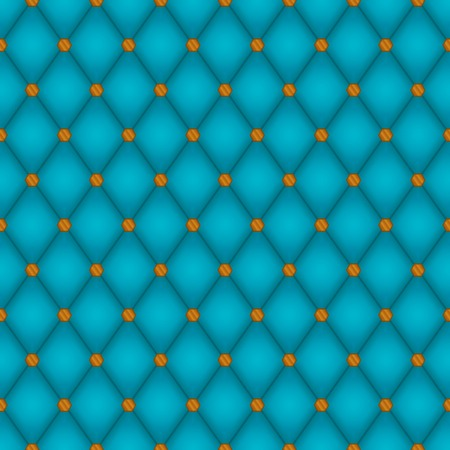 Seamless background consisting of soft teal diamonds and shiny copper rivets Vector