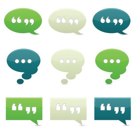 Bolle colorate classicamente chat con ombre; gradienti utilizzati. Archivio Fotografico - 10010391
