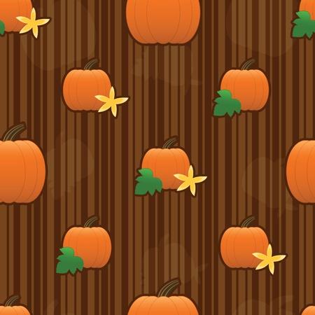 Autumn pumpkins arranged on a seamless striped tile 免版税图像