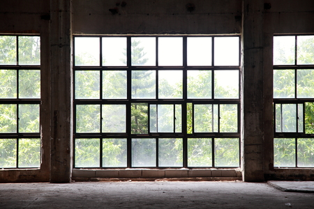 peristalsis: Large windows of abandoned factories