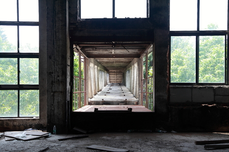 discard: Old factory Stock Photo