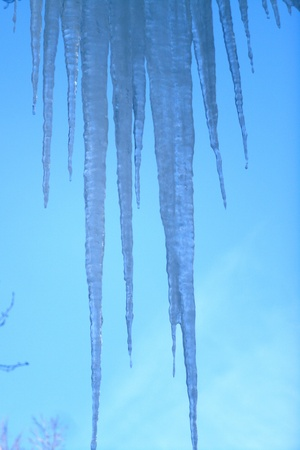 december: icicles in December