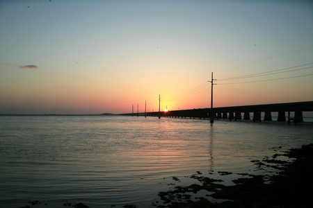 sunset-7 mile bridge photo
