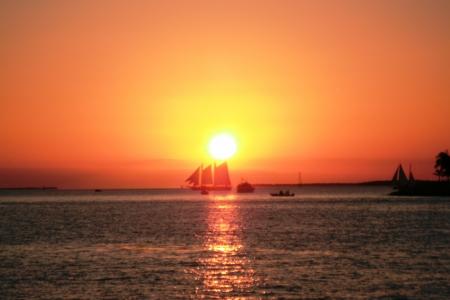 clave sol: hermoso atardecer de Key West Foto de archivo