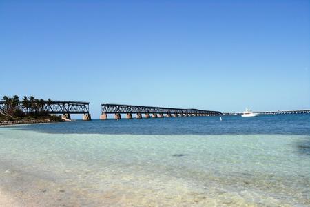 brug-oud-Bahia Honda Stockfoto