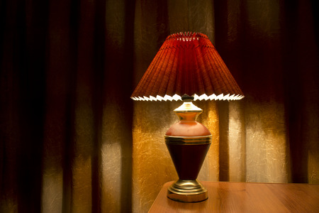 tafel lamp Stockfoto