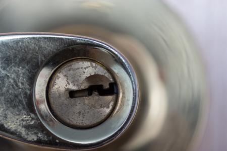 rustic dirty grunge door lock close up