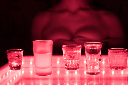 young woman perfoming in a strip bar