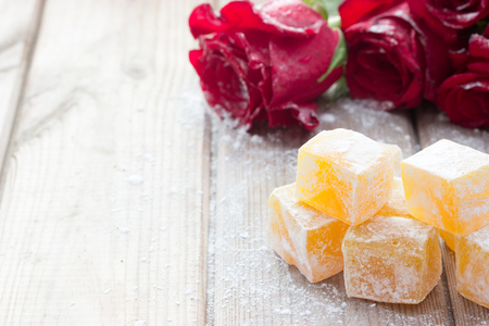 Delicious Turkish Delight with rose flower taste