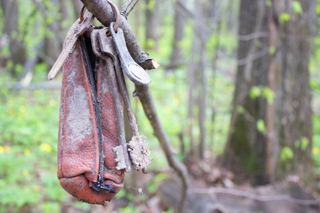 dirty keys hung on a branch losted key concept