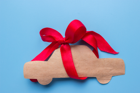 Close-up view of car. car as a present concept Stock Photo