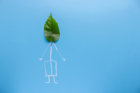 eco green concept. person with leaf as