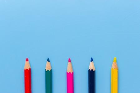 colorful pencils family. a scketch. creativity concept Stock Photo
