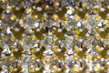 Canvas of crystal rhinestones as a Background Stock Photo