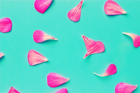 Background of artificial pink rose petals Stock Photo