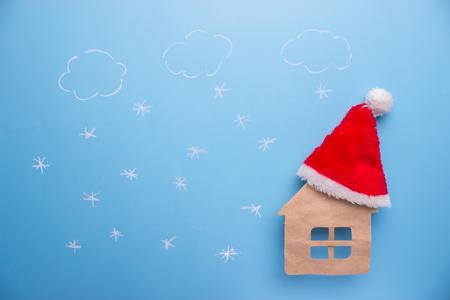 santa clause house concept.