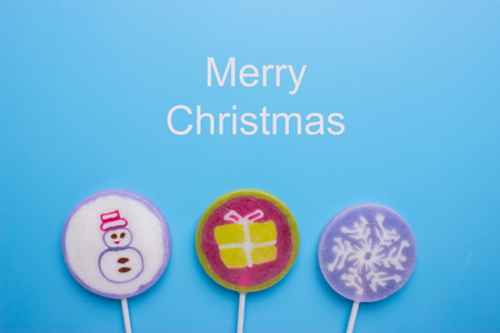 colorful christmas lollypops Stock Photo