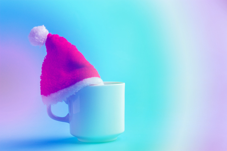 santa hat on a cup