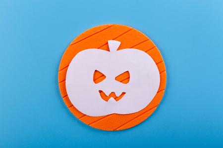 Halloween Pumpkin concept. rumpkin made from paper