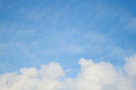 blue sky with cloud background image. vintage