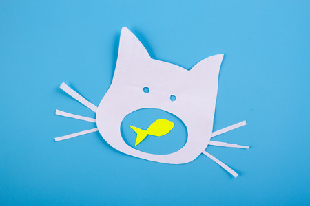 funny cartoon cat with open mouth