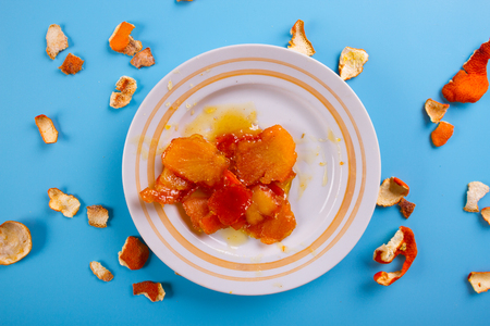 homemade candied citruis fruits. toned image