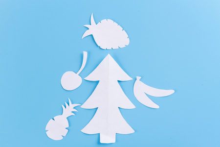 Closeup of Christmas tree with light. toned image Stock Photo