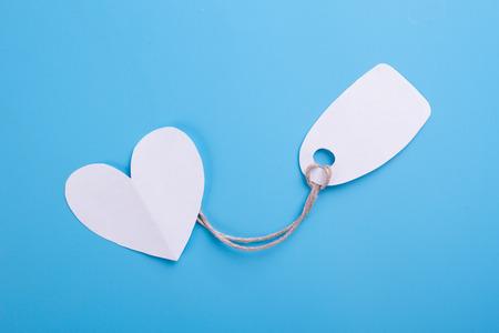 concept of buying love. blue background Reklamní fotografie