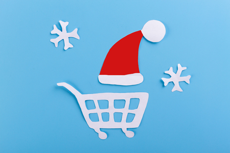 Christmas shopping concept. cartoon styled