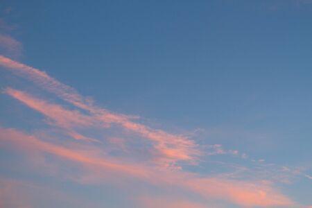 beautiful sunset sky background. toned image