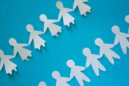 Choose a partner concept. Paper men and women