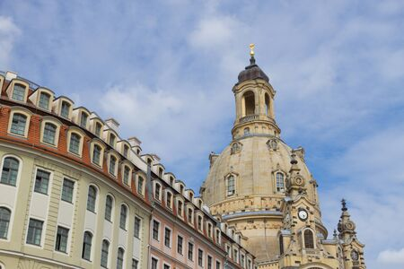dresden frauenkirche chirch. View on the church and the square Standard-Bild