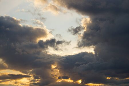 Beautiful cloudscape background. Sunset or sunrise Archivio Fotografico